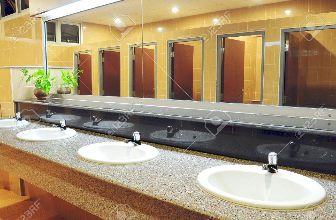 handbasin and mirror in toilet stock photo 8896293 bathroom office