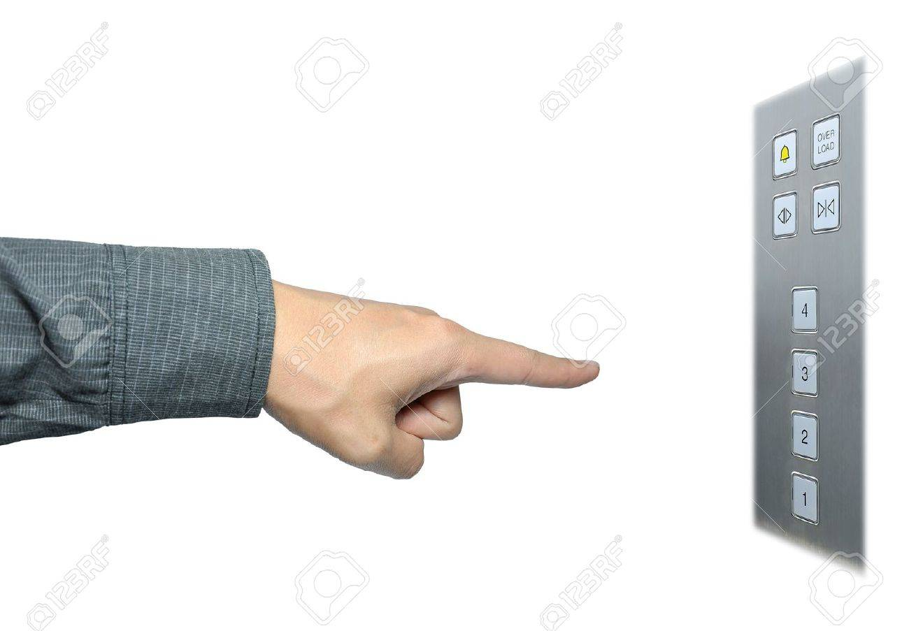businessman hand to press button on lift Stock Photo - 8896295
