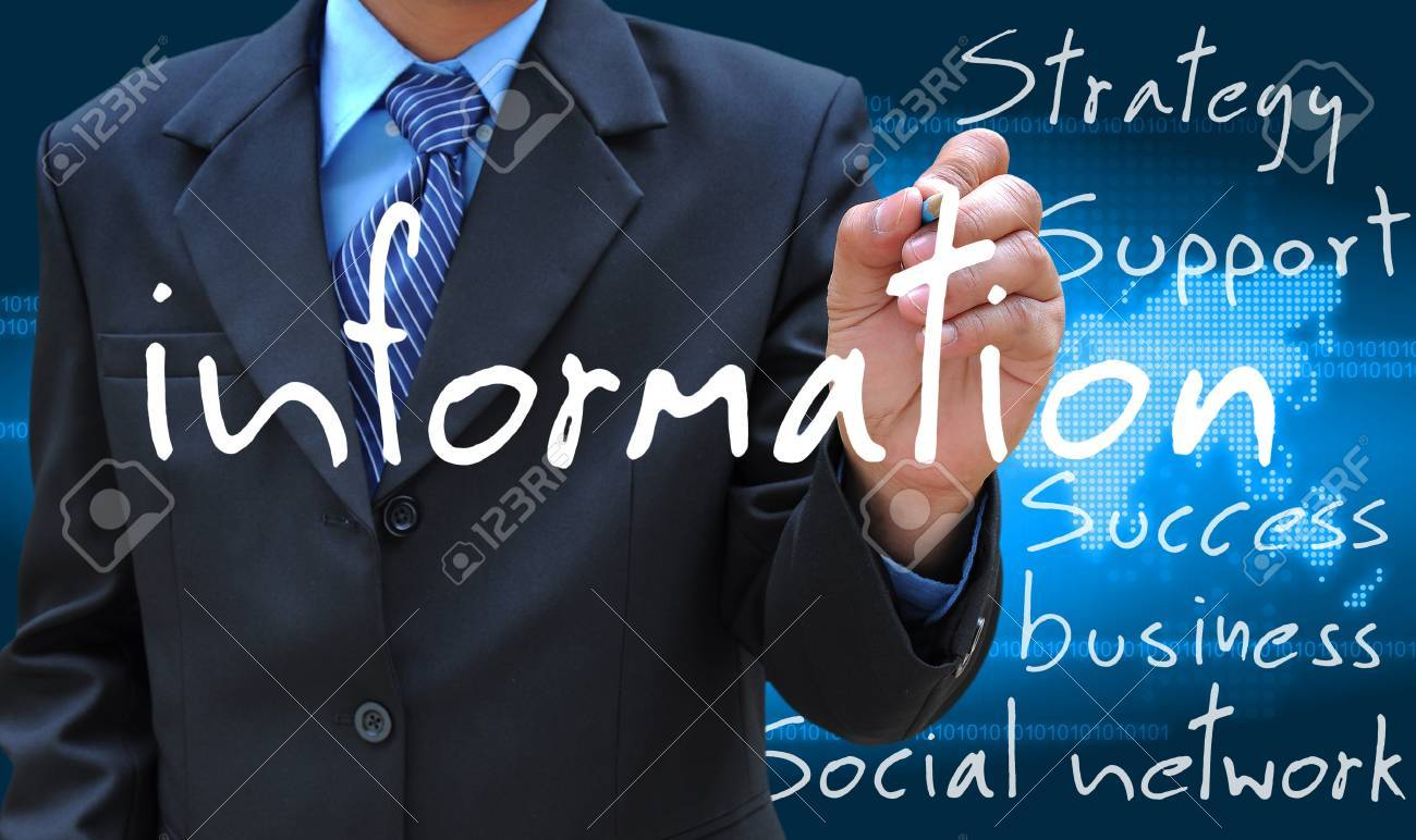 businessman hand writing information - 15871474