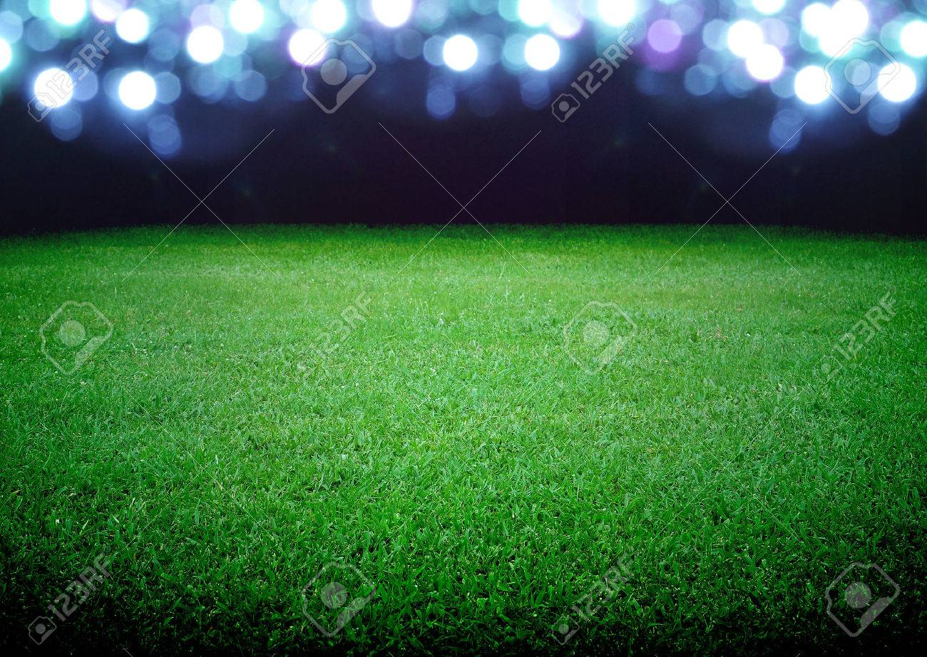 soccer field and the bright lights - 23301357