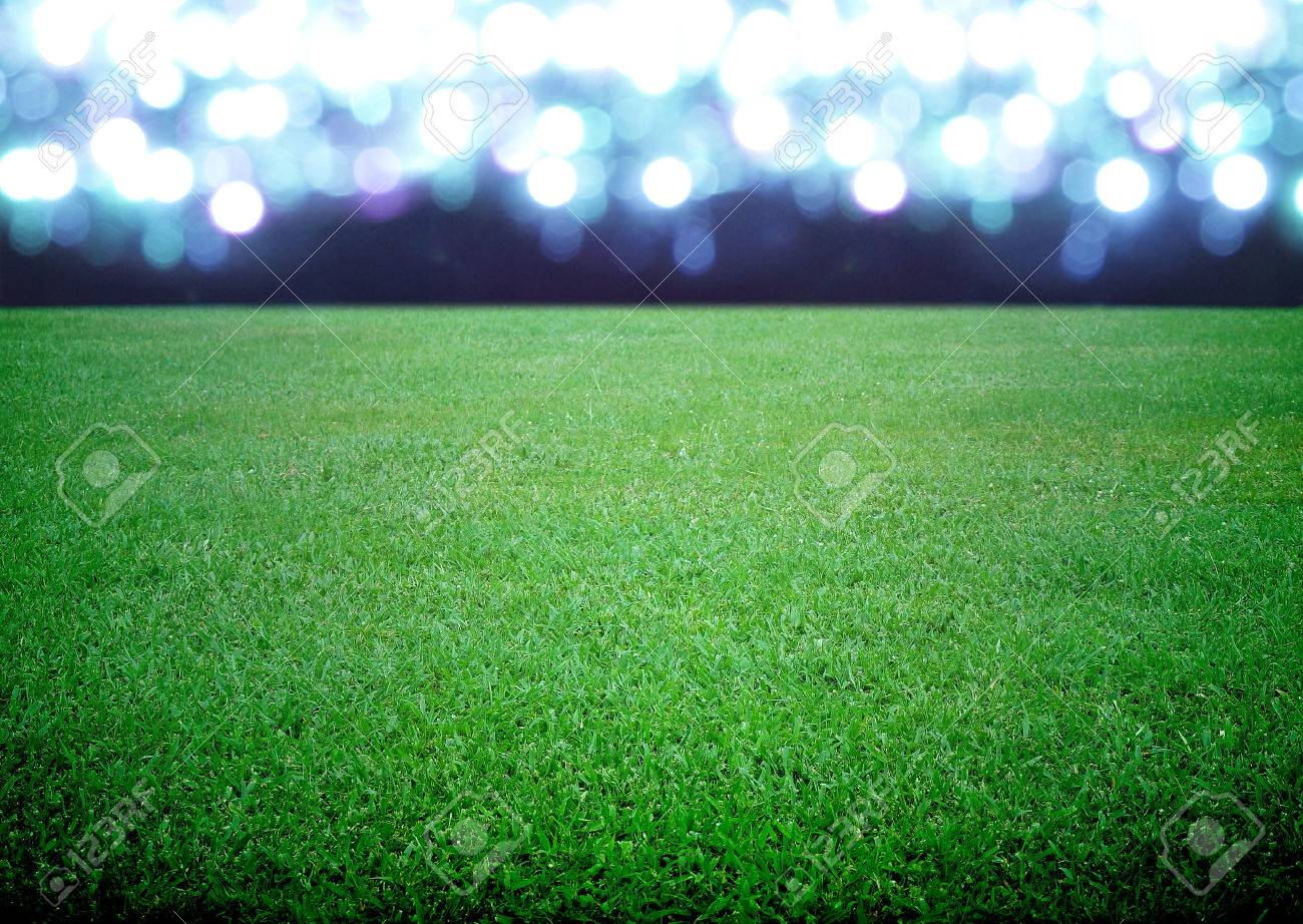soccer field and the bright lights - 24227174