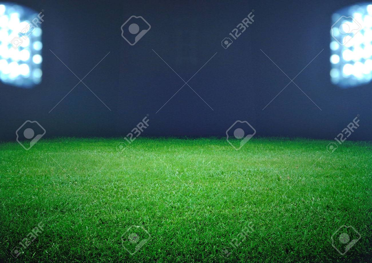 soccer field and the bright lights - 24227172
