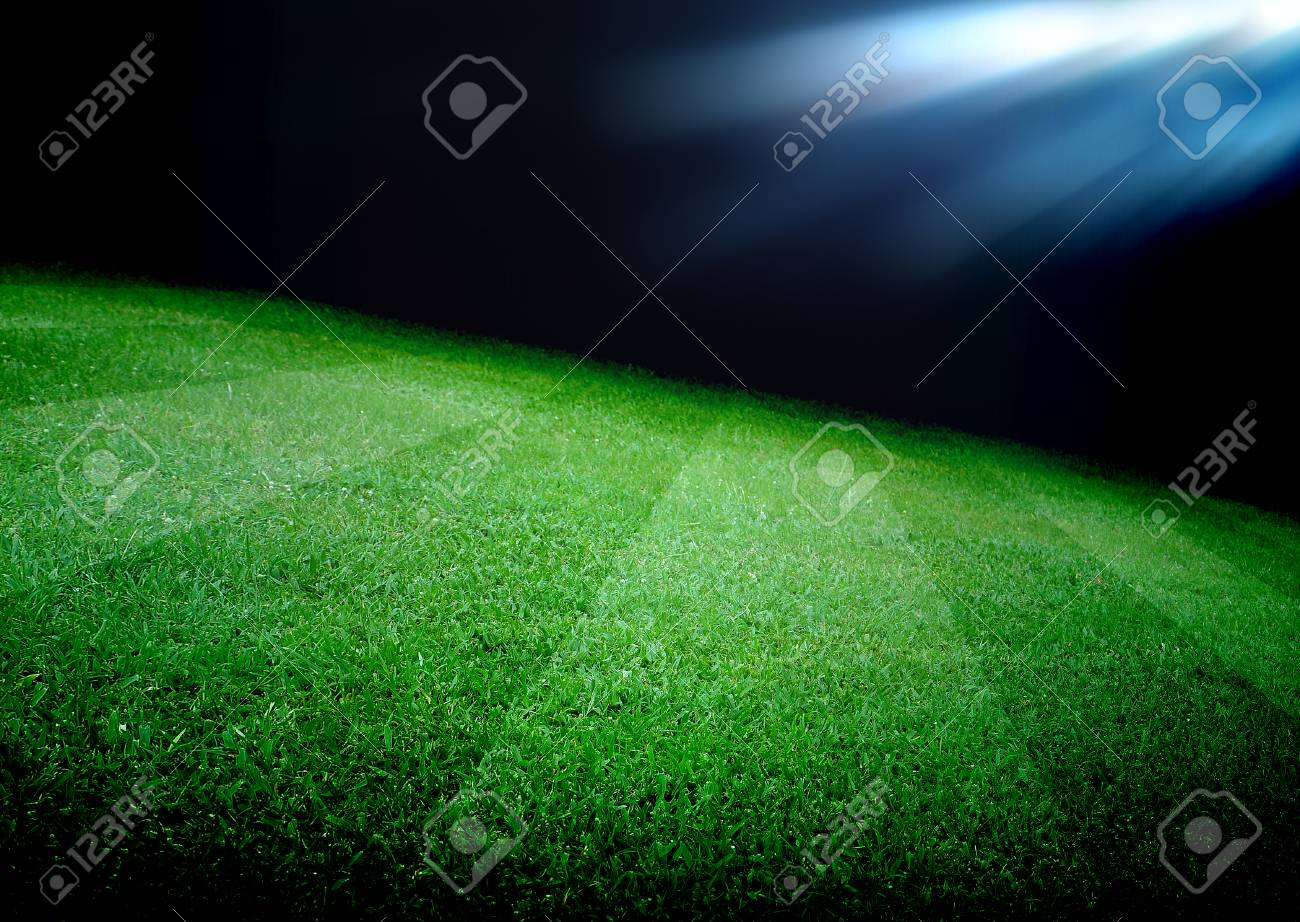 soccer field and the bright lights - 33422706