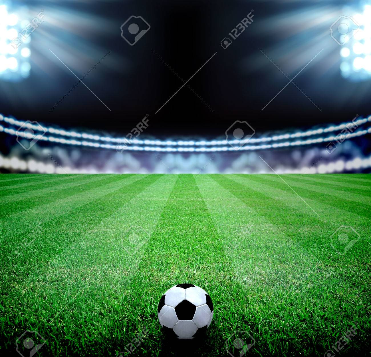 soccer field and the bright lights - 33960606