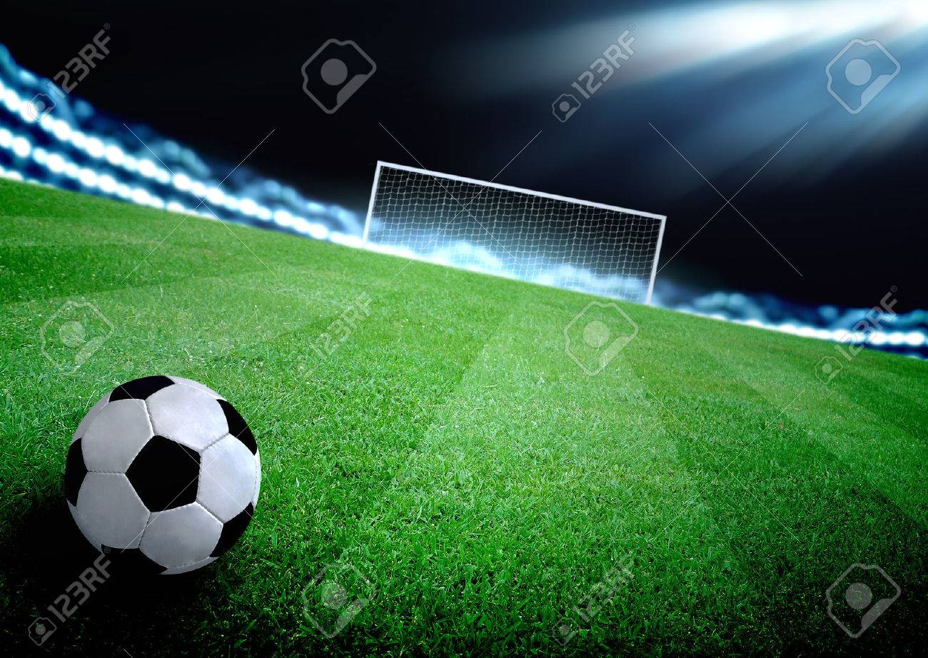 soccer field and the bright lights - 35320816