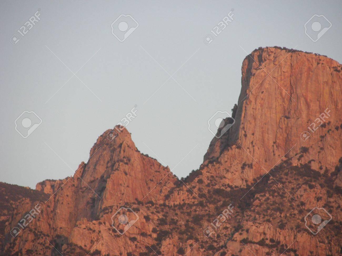 Santa Catalina Mountains in Tucson, AZ at Sunset Stock Photo - 18408955