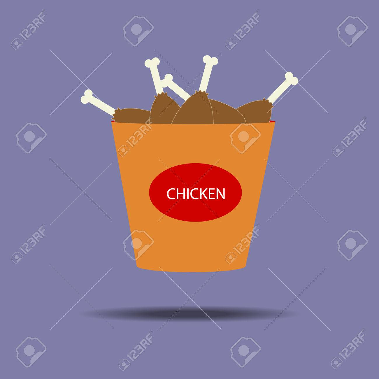 Bucket Of Chicken Legs Icon Fried Chicken Snack Fast Food Royalty Free Cliparts Vectors And Stock Illustration Image 54878935