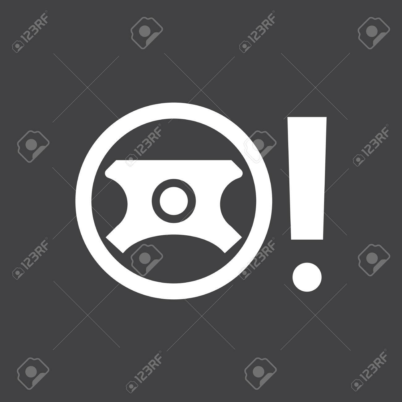 Faulty Power Steering Sign Car Dashboard Icon Vector - Car image sign of dashboardcar dashboard icons stock images royaltyfree imagesvectors