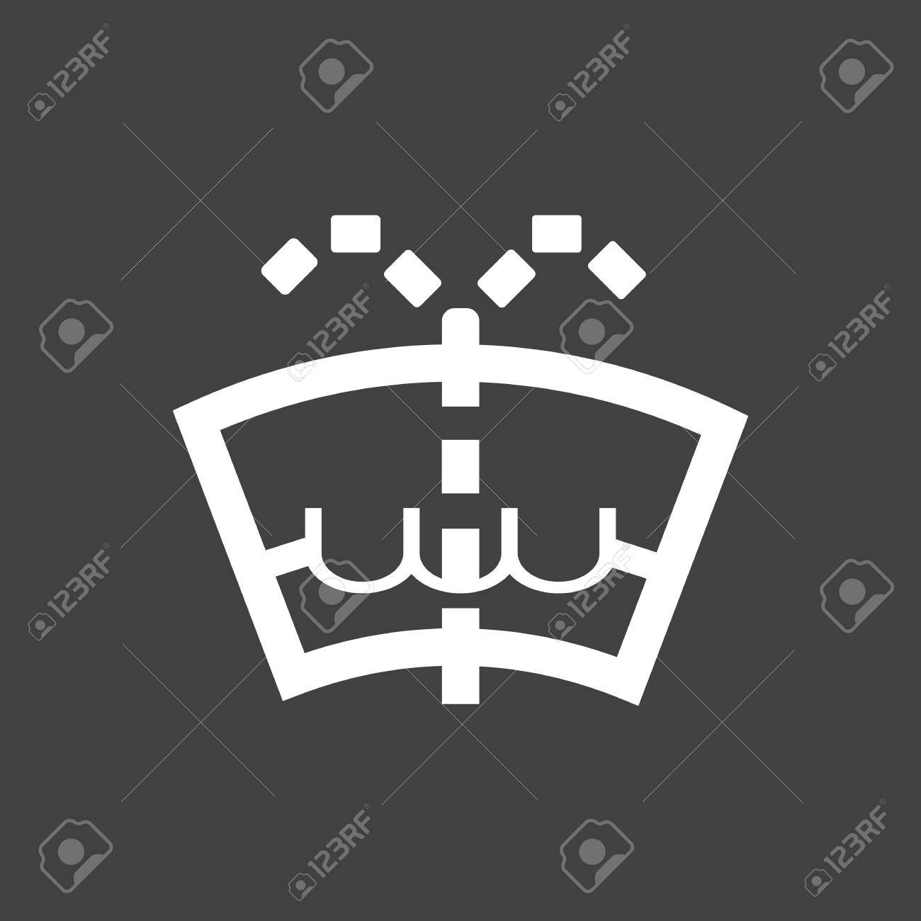 Windshield Washer Fluid Level Car Dashboard Icon Vector - Car image sign of dashboardcar dashboard icons stock images royaltyfree imagesvectors
