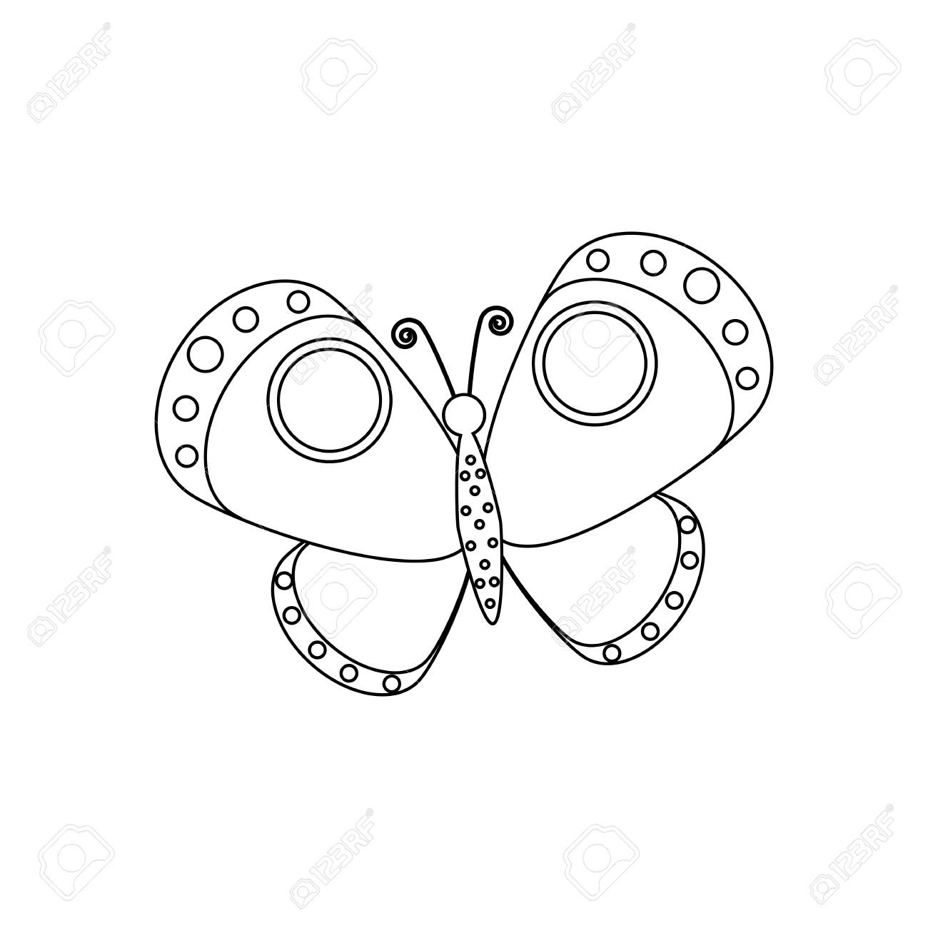 Free Butterfly Coloring Page - Butterfly Coloring Pages Png ... | 1300x1300