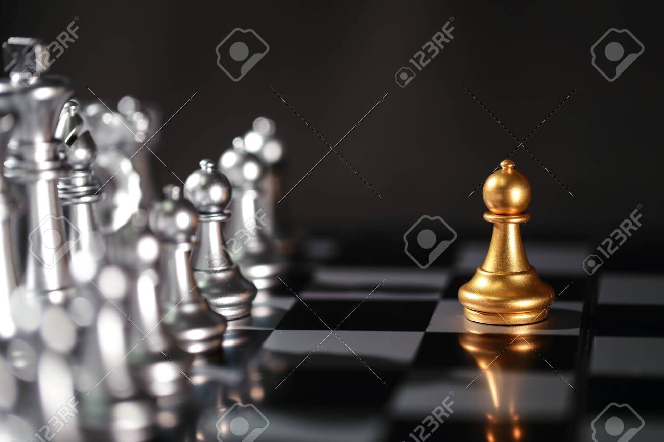Chess business idea for competition, success and leadership concept - 132000055