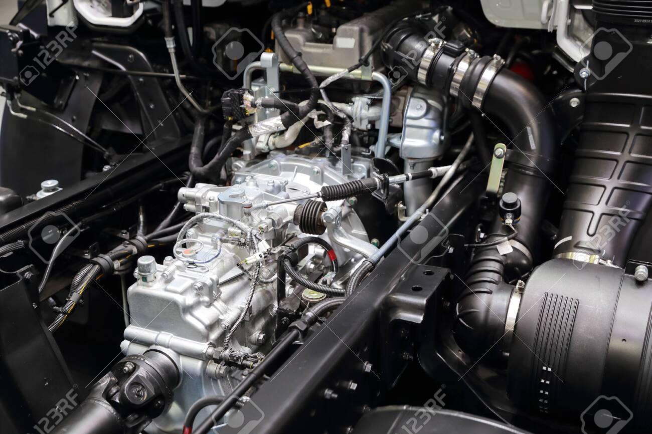 new diesel truck engine close up - 132000254