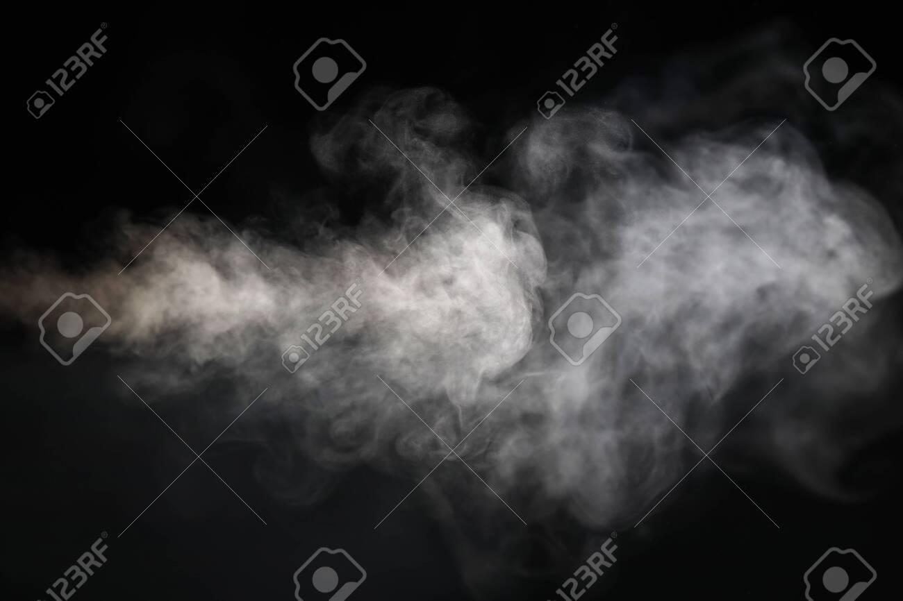 image of smoke with black background - 130687413