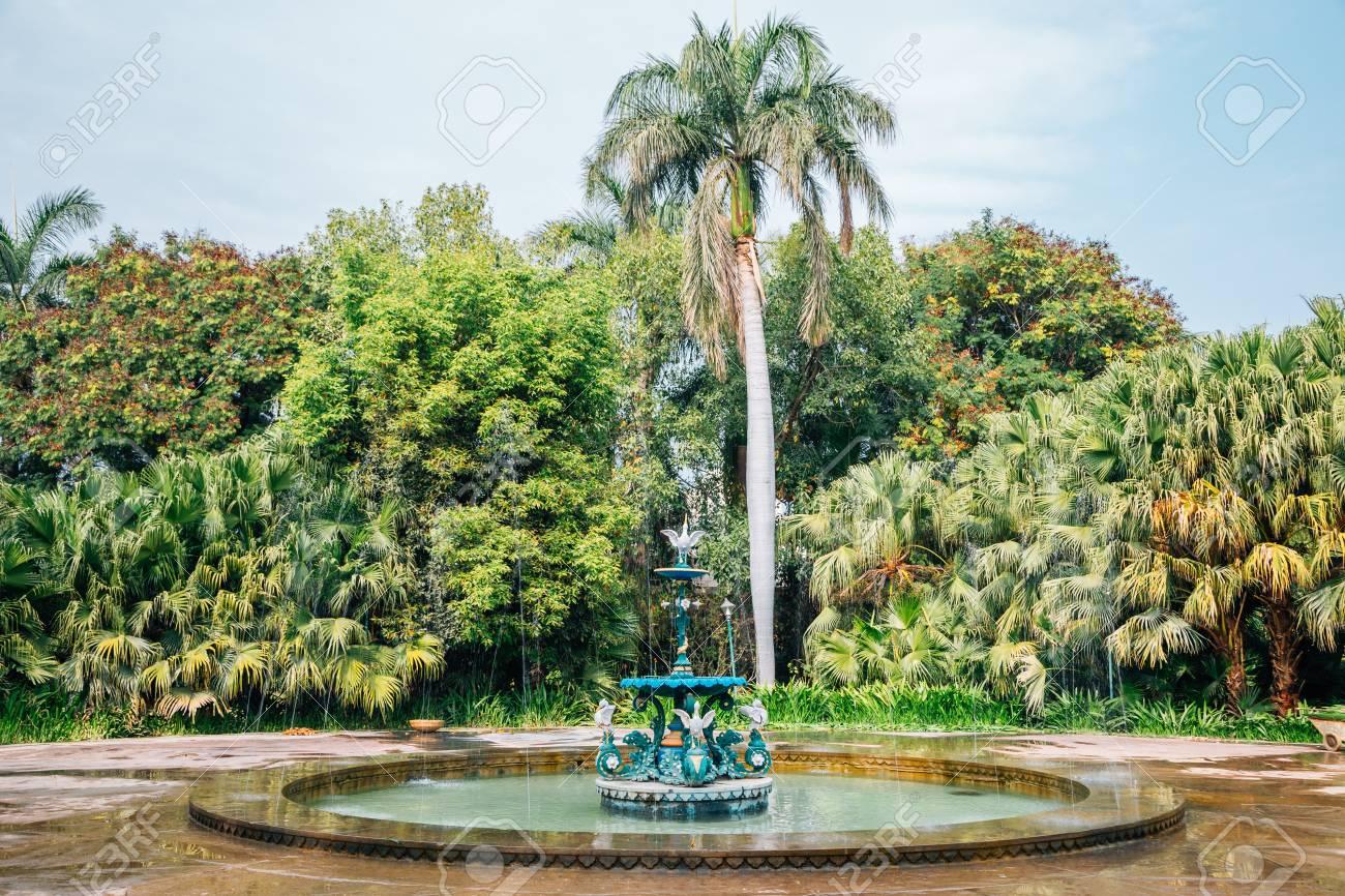 Fountain At Saheliyon Ki Bari (Garden Of The Maidens) In Udaipur, India  Stock