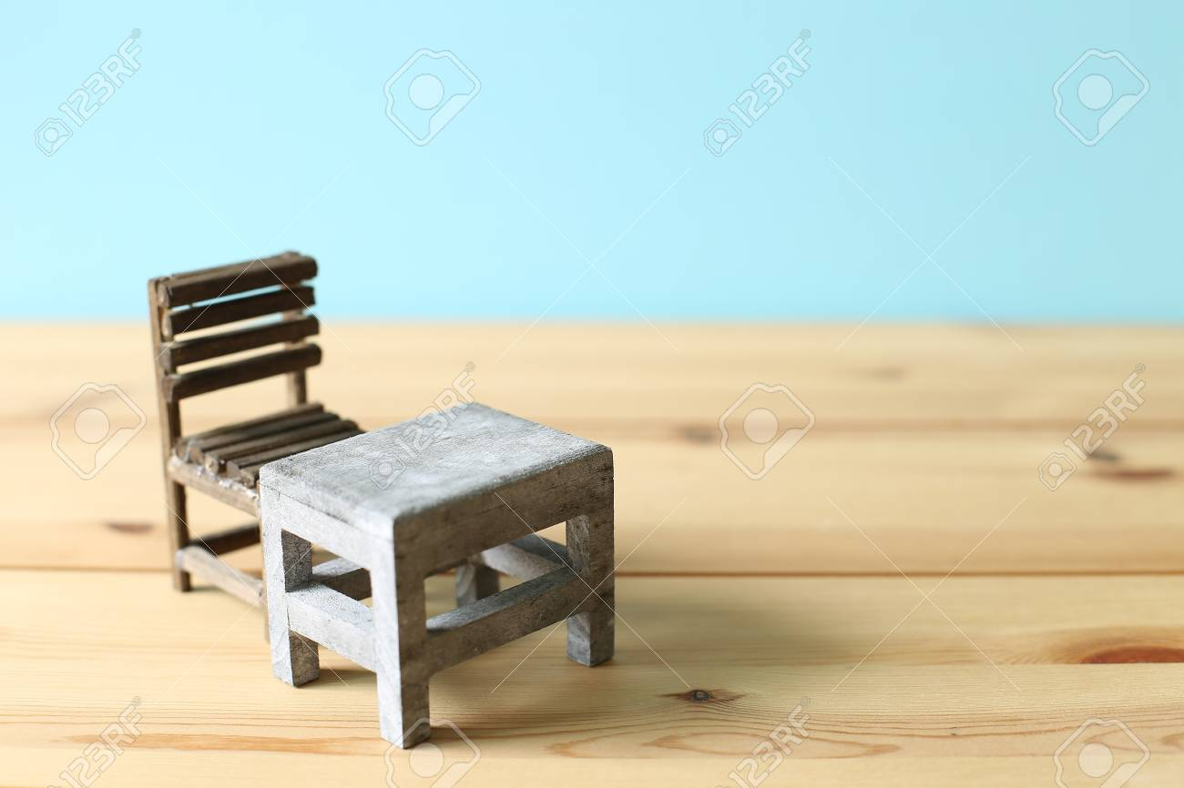Old School Desk And Chair Stock Photo Picture And Royalty Free