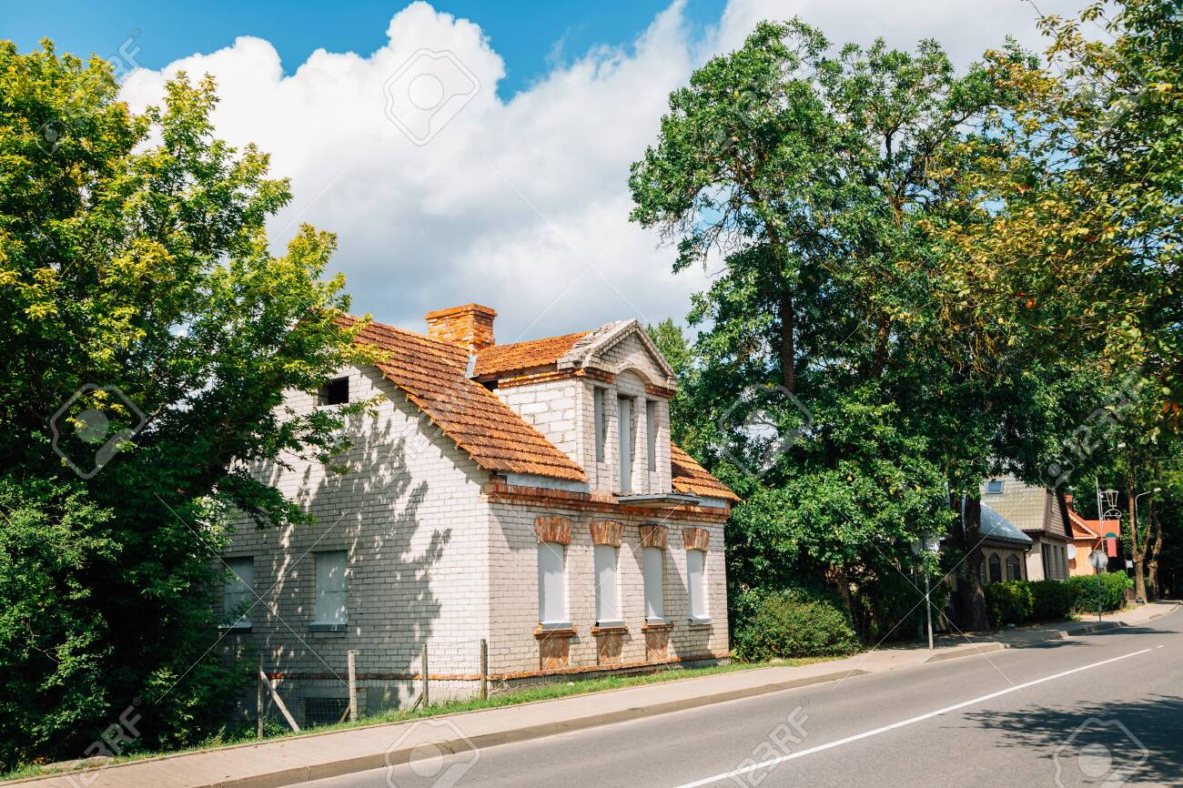 Trakai town street at summer in Lithuania - 136668171