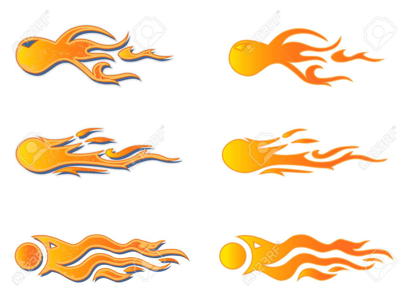 Vehicle Graphics Stripe Hot Rod Racing Flame Graffiti Car Decal Vinyl Ready Graphic Design Vector Illustration Royalty Free Cliparts Vetores E Ilustracoes Stock Image 81225494