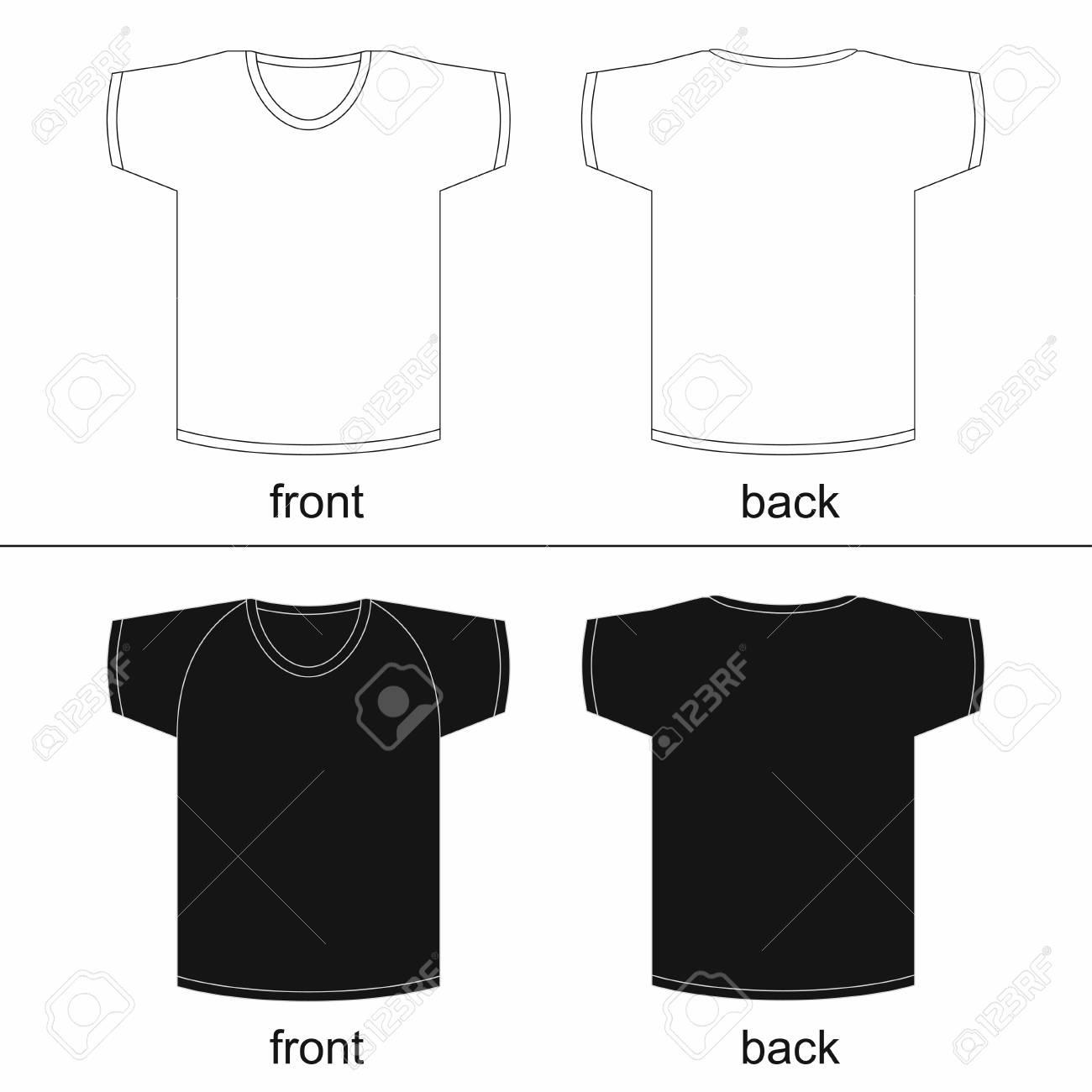 Leere T Shirt Vorlage Vorder Und Ruckseite