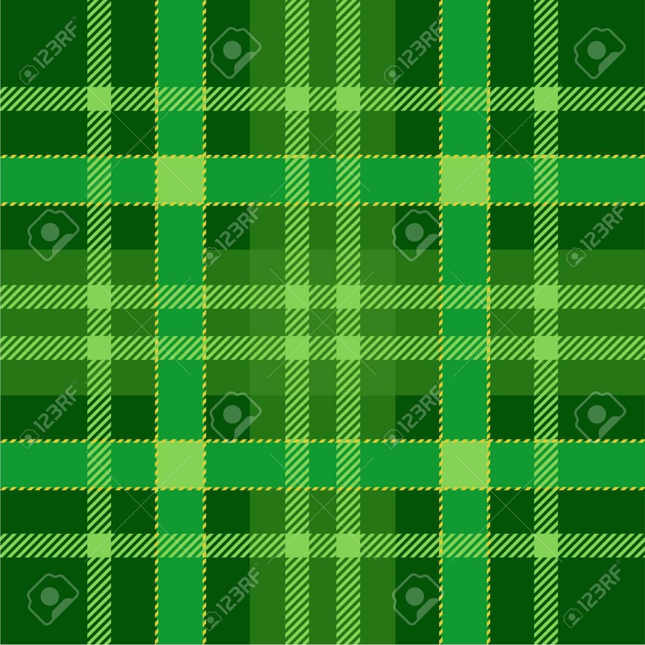 d4e54e728 Fondo Del Modelo Inconsútil Del Tartán De La Tela Escocesa. Ornamento  escocés tradicional verde. Tejas de tartán sin costuras. Ilustración ...