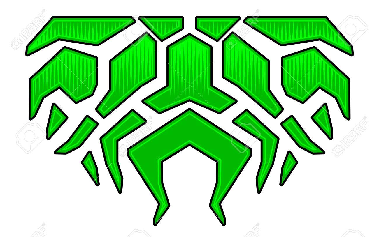 Geometric tribal flame sticker on the hood car bike vehicle graphics vinyls