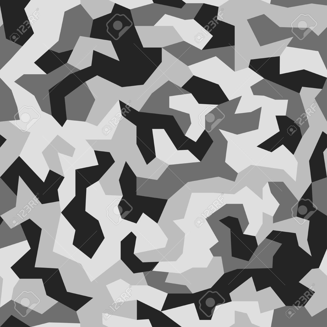 Modern fashion wallpaper. Army monochrome texture. Vector trendy camo pattern