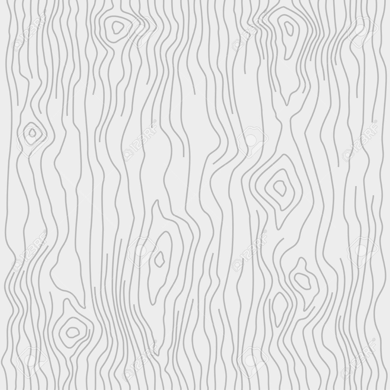 Seamless wooden pattern. Wood grain texture. Dense lines. Light gray background. Vector illustration - 125015346