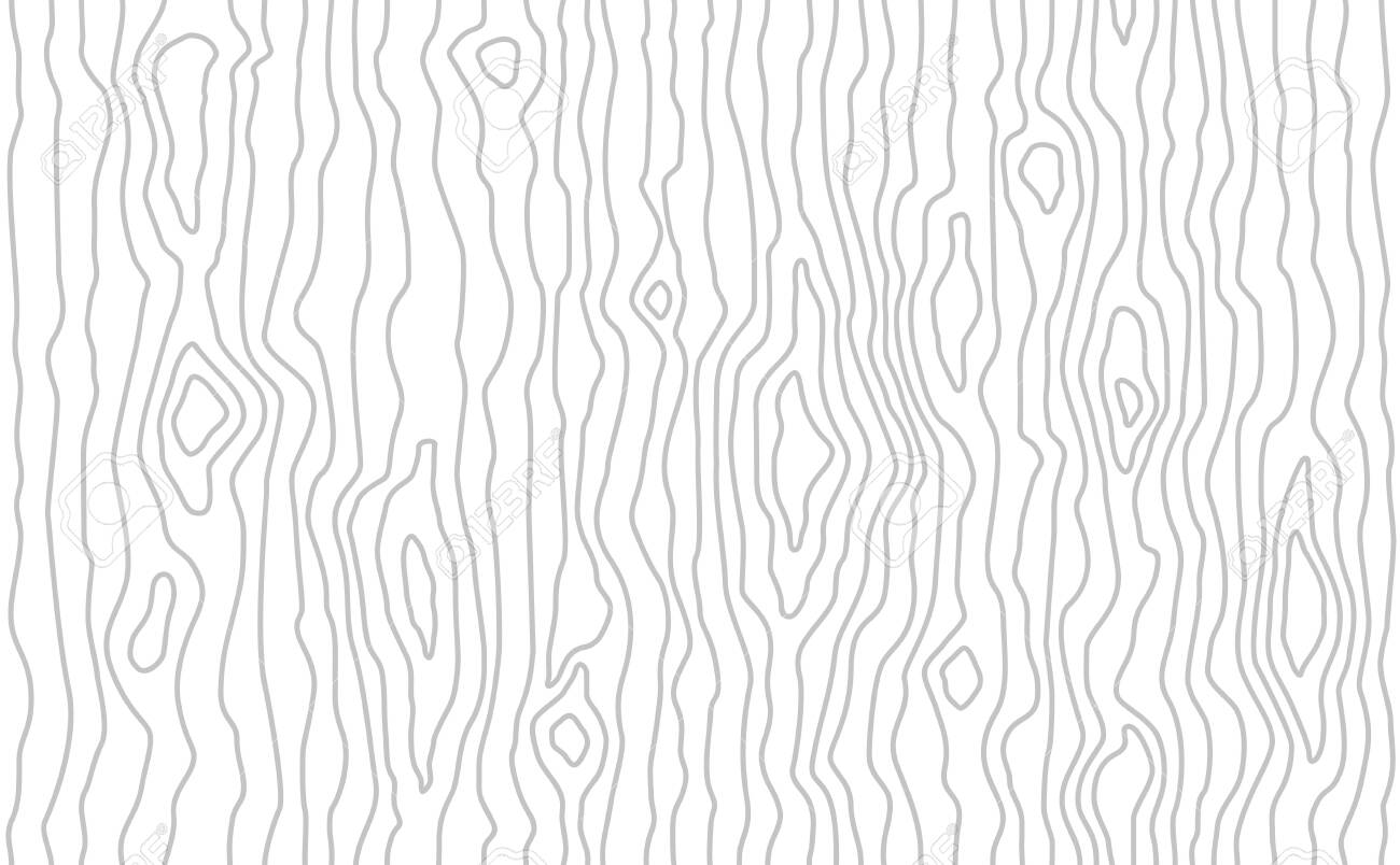 Seamless wooden pattern. Wood grain texture. Dense lines. Light gray background. Vector illustration - 125015347