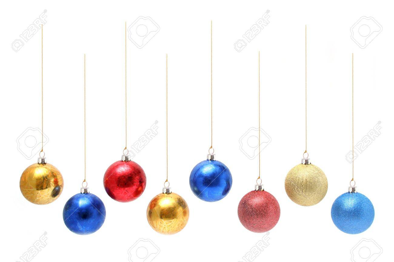 Christmas celebratory ornaments in the form of multi-coloured glass spheres Stock Photo - 673448