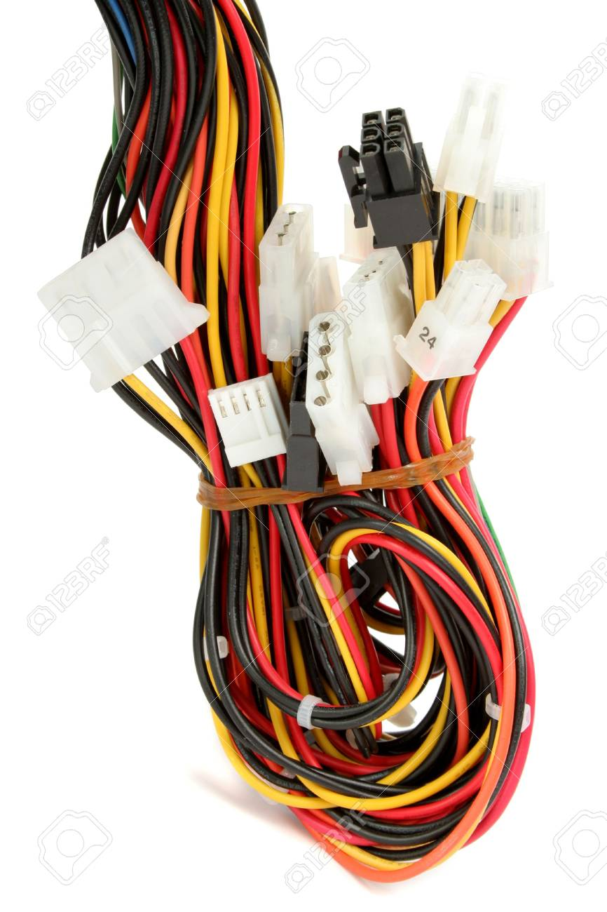 Admirable Color Computer Wires With Connectors 1 Stock Photo Picture And Wiring 101 Akebretraxxcnl