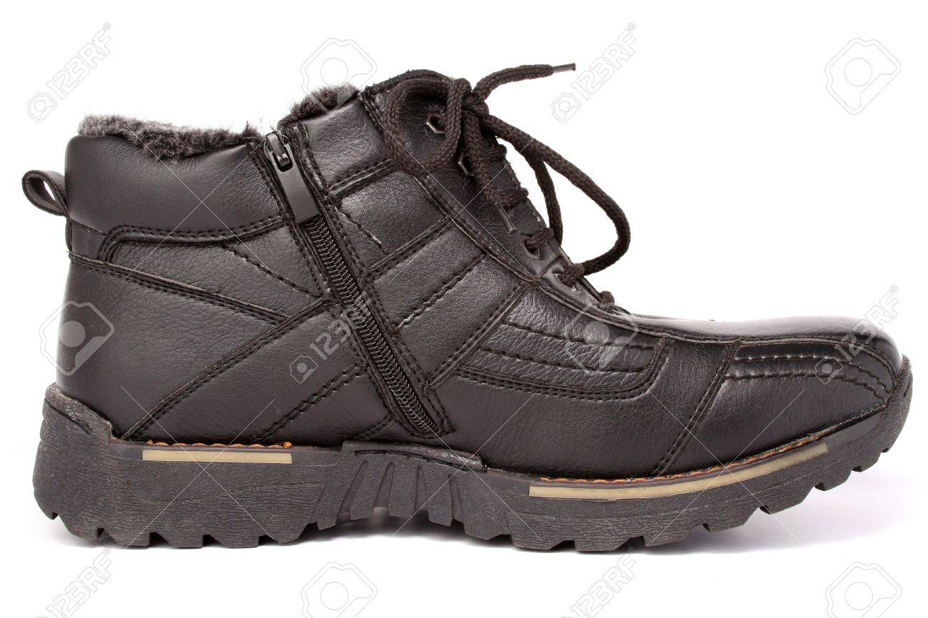 a12ab8cae5 Stock Photo - The left man s winter leather boot