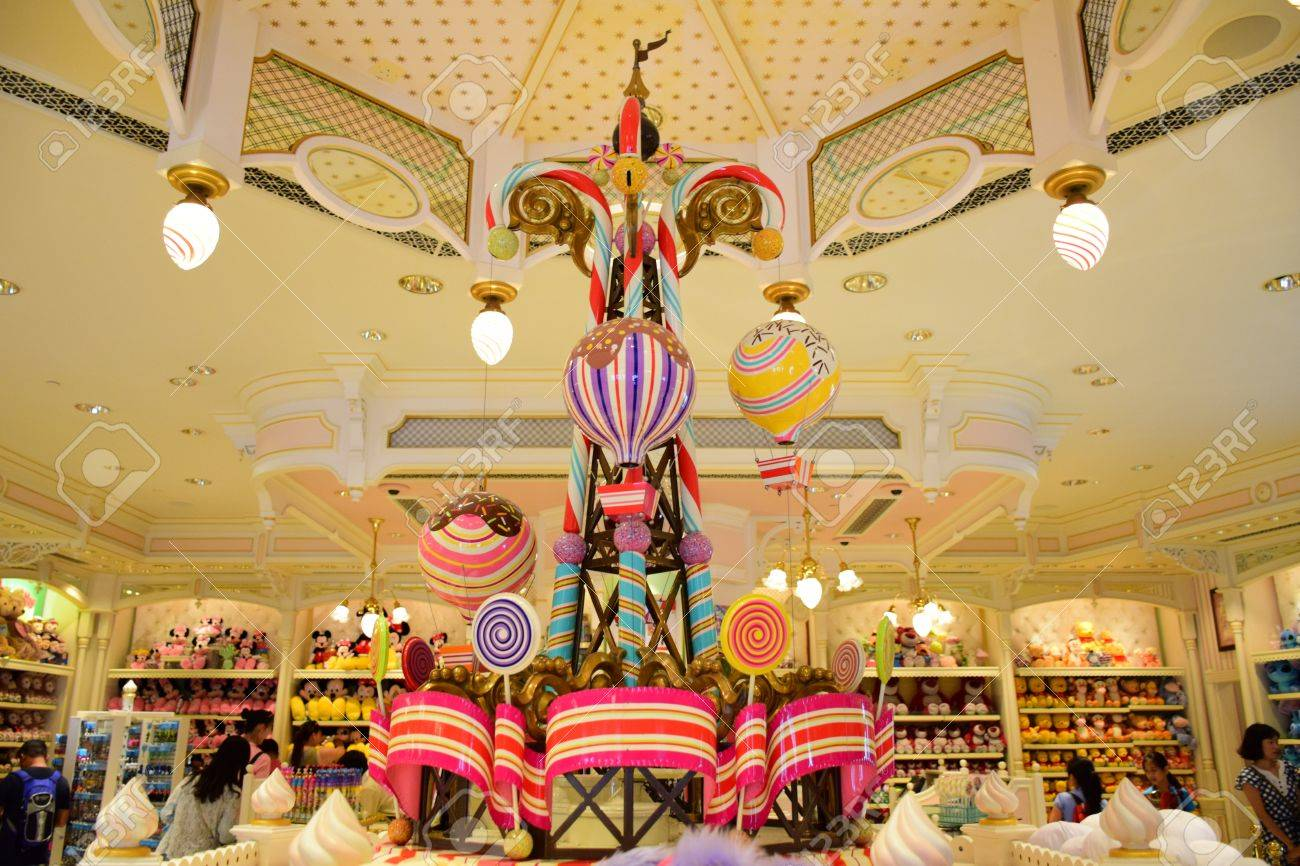 Hong Kong Disneyland Beautiful Interior Decoration In Disney Stock Photo Picture And Royalty Free Image Image 78938123