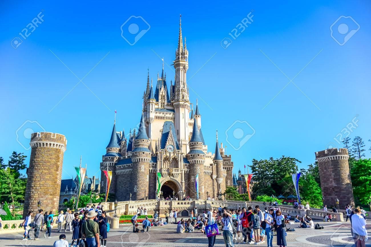 東京ディズニーランド シンデレラ城観 千葉県 の写真素材画像素材