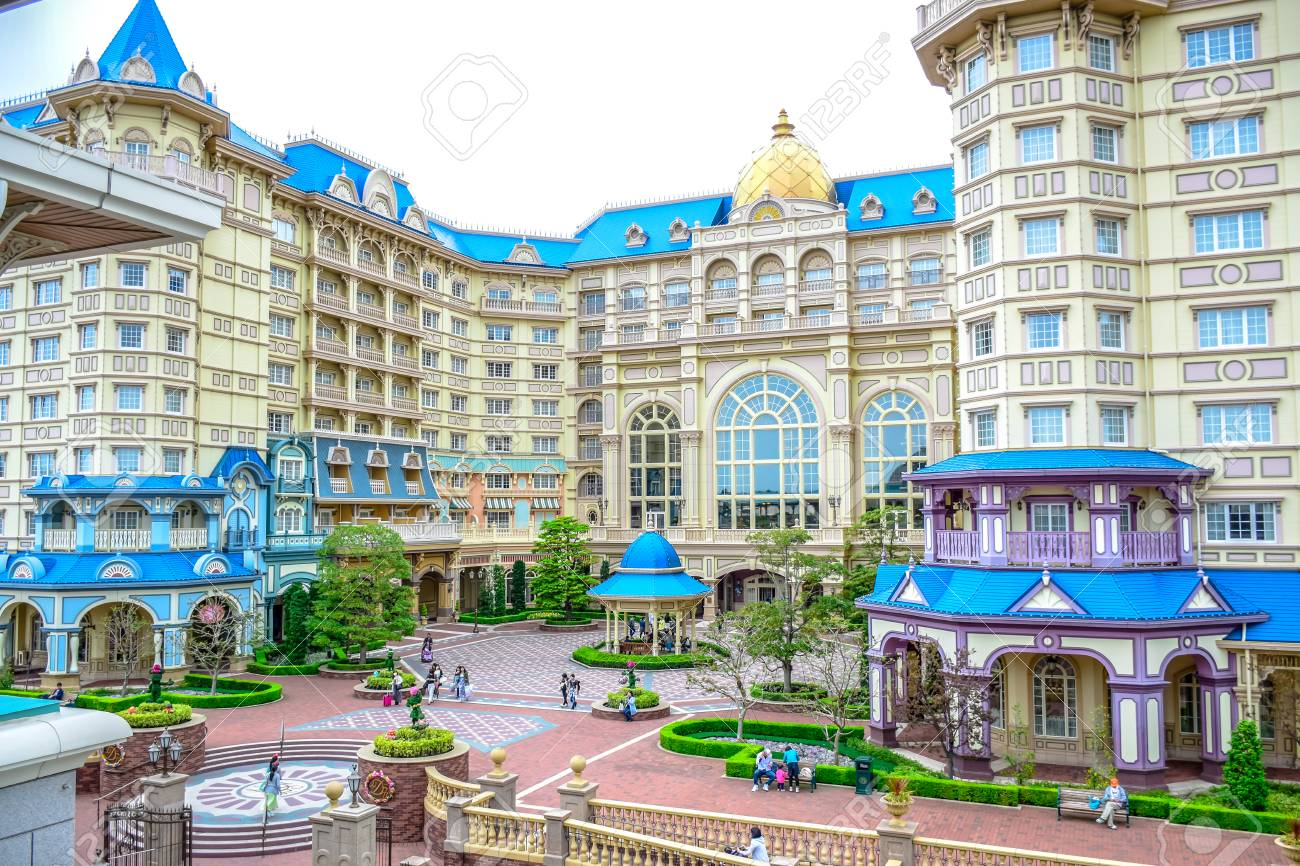 Chiba Japan View Of Tokyo Disneyland Hotel Located In Tokyo