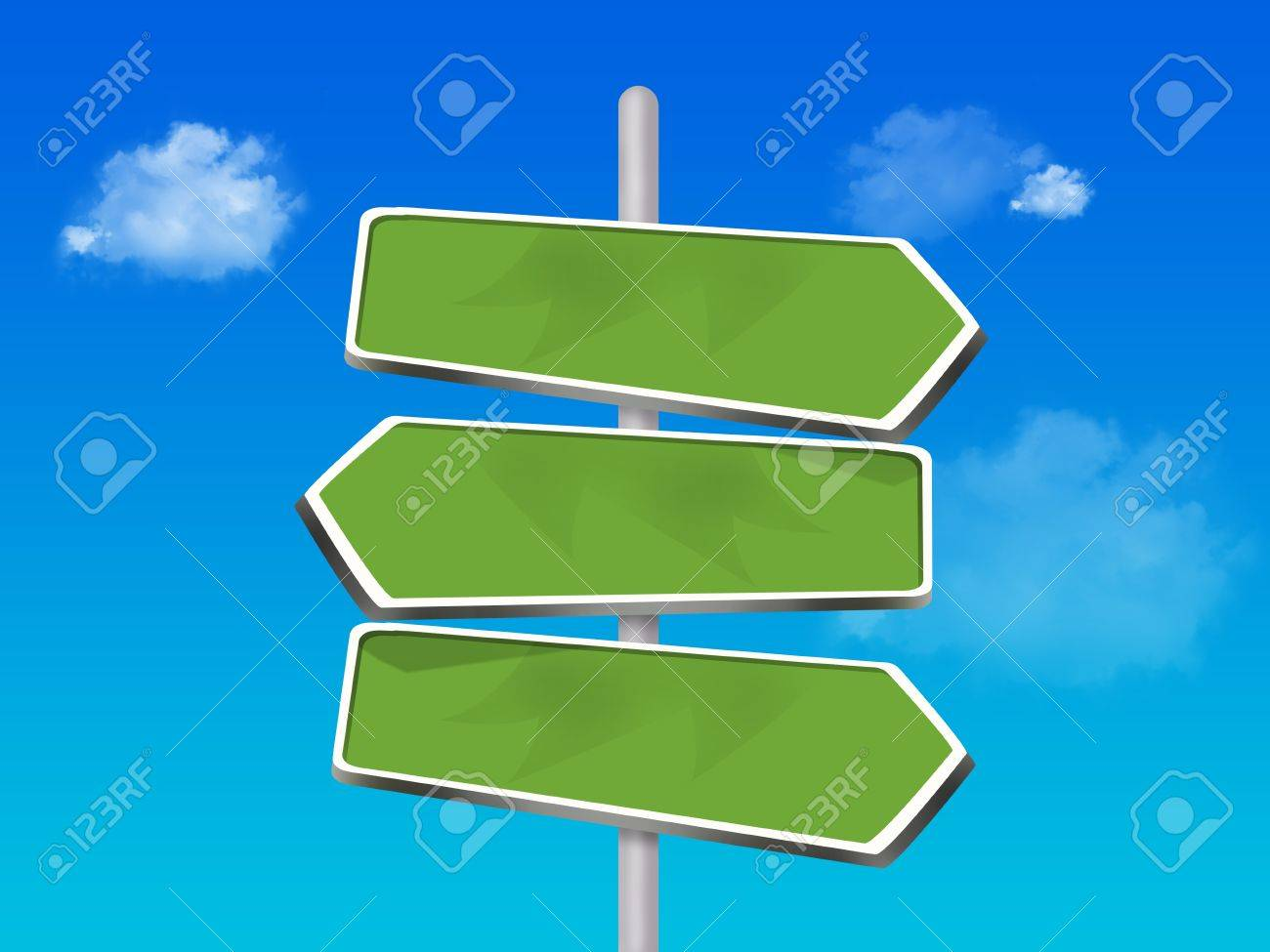 3 way direction signs Stock Photo - 16970748