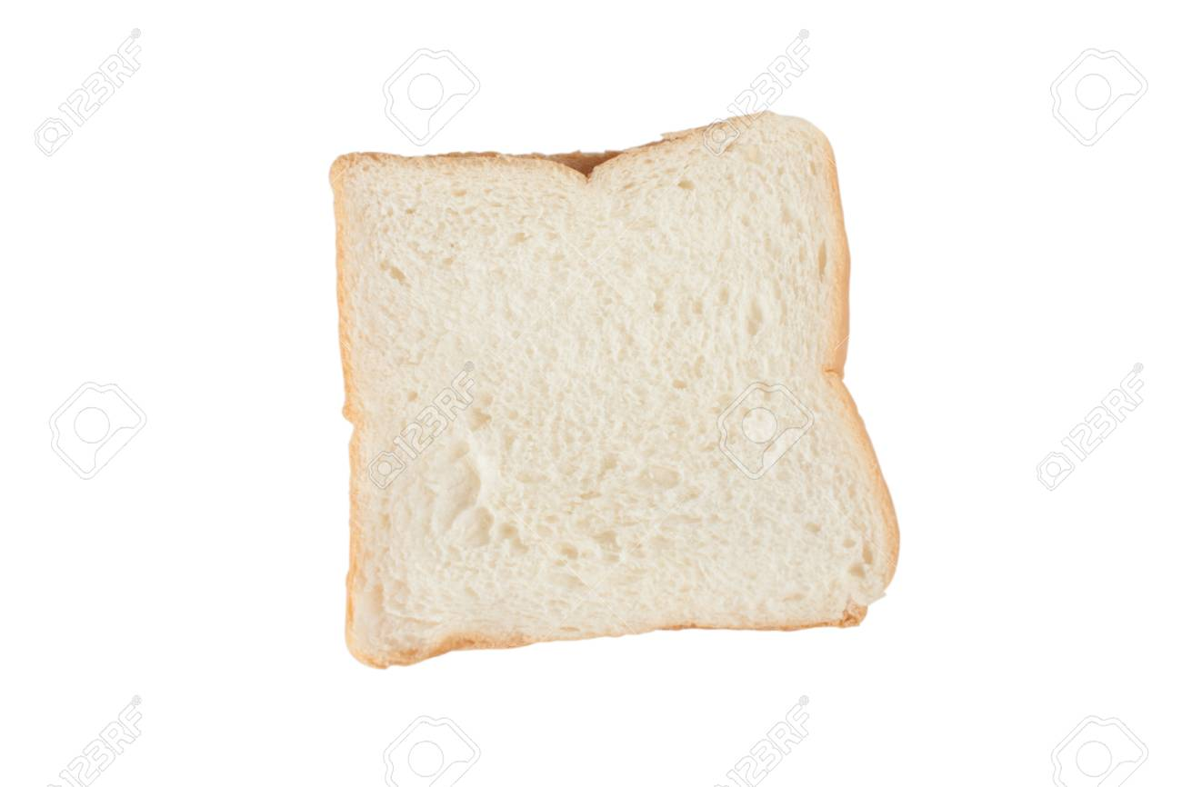 Bread Slice Isolated On White Clipping Path Included