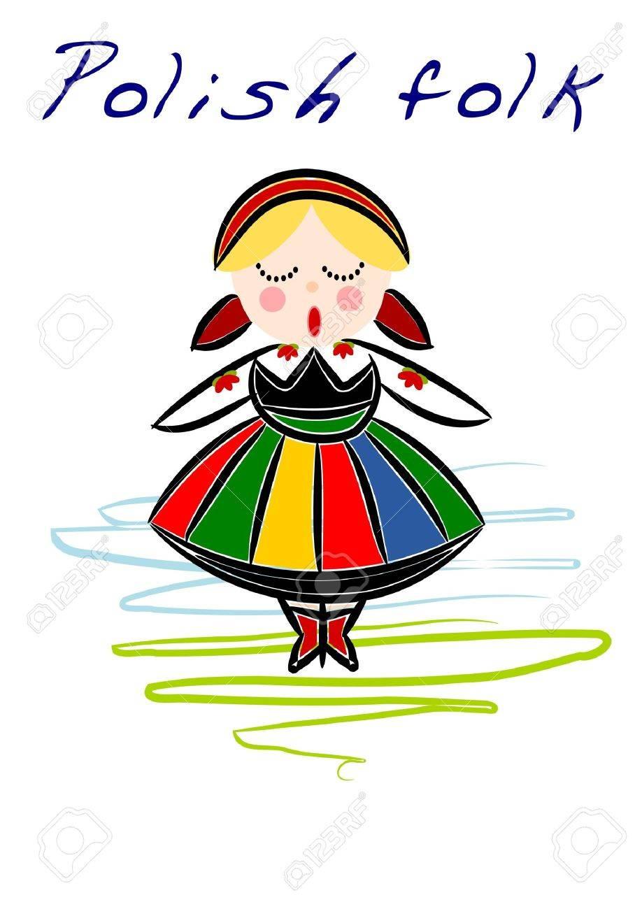 Beauty Polish National ethnic costume - 10268085