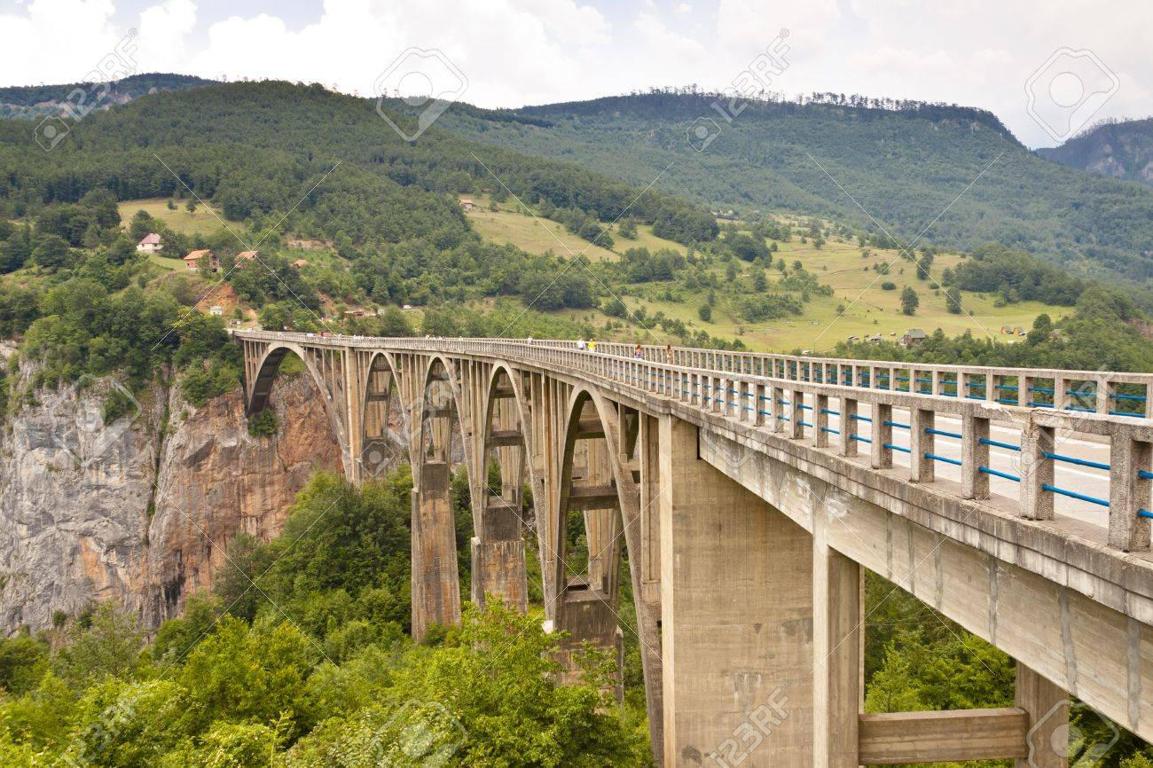 Old Bridge on Tara river near Durdevica. Monetenegro. Stock Photo - 11582450