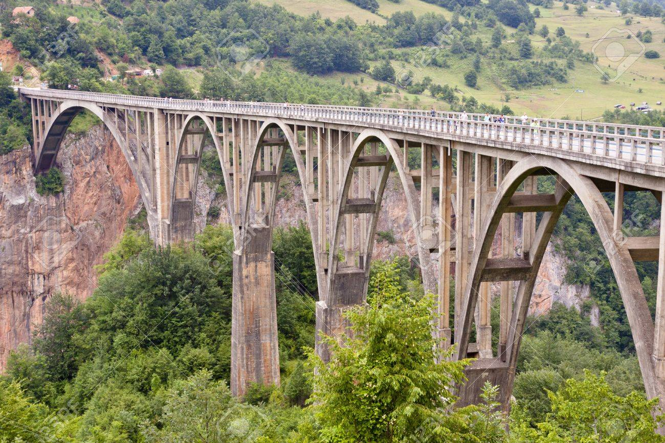 Old big bridge in Durdevica - Montenego, Balkans. Stock Photo - 11582446