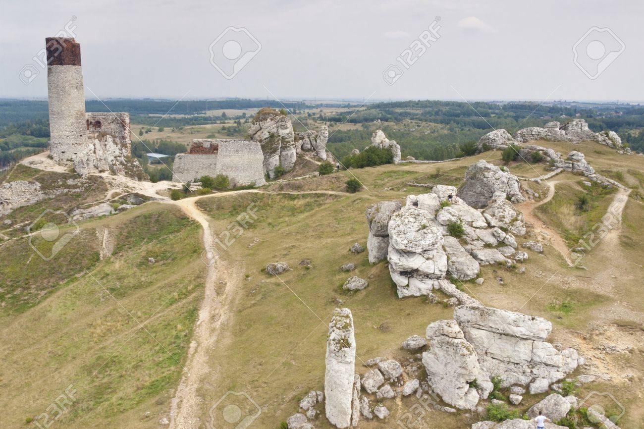 Jura region, Olsztyn near Czestochowa - Old fortification  Poland, Silesia  Stock Photo - 15294665