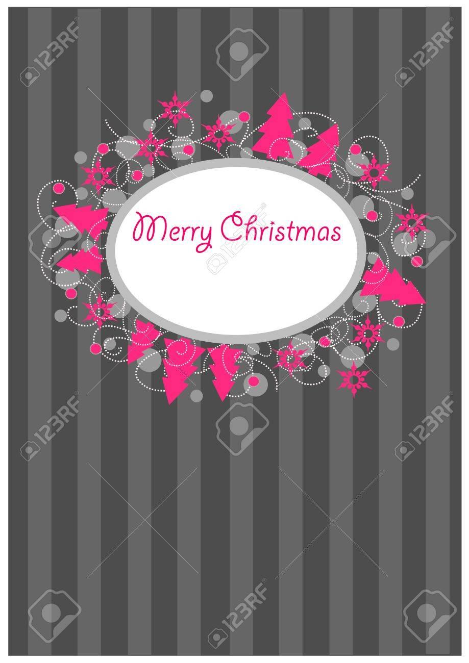 Colorful ornamental christmas postcard Stock Vector - 15644269