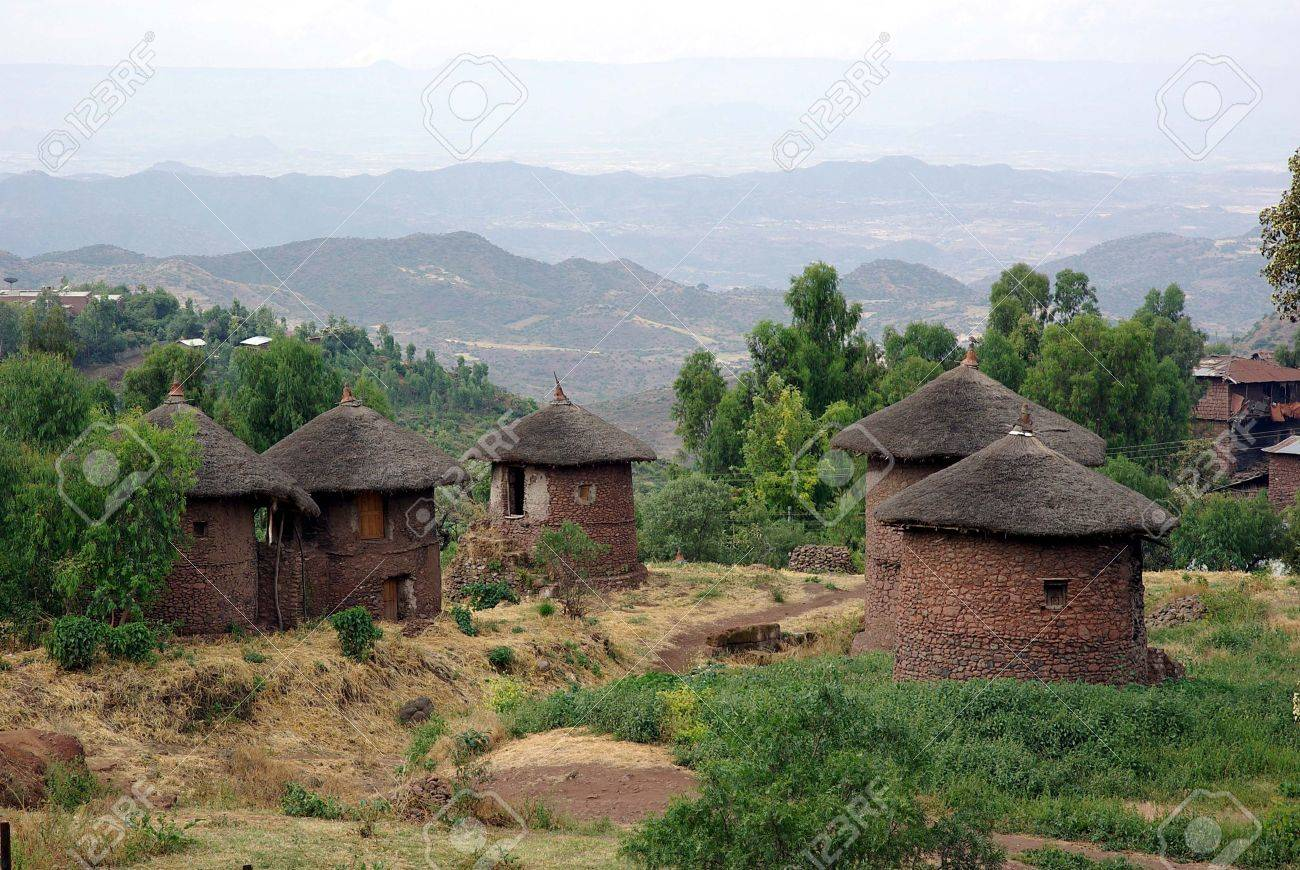 Village in Ethiopia Stock Photo - 13224320