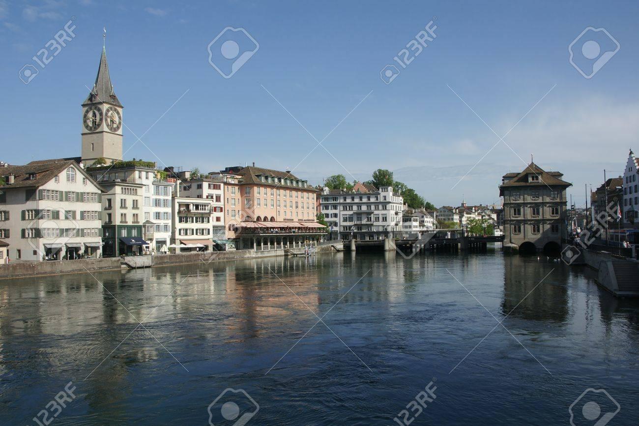 River Limmat in Zurich, Switzerland Stock Photo - 13692226