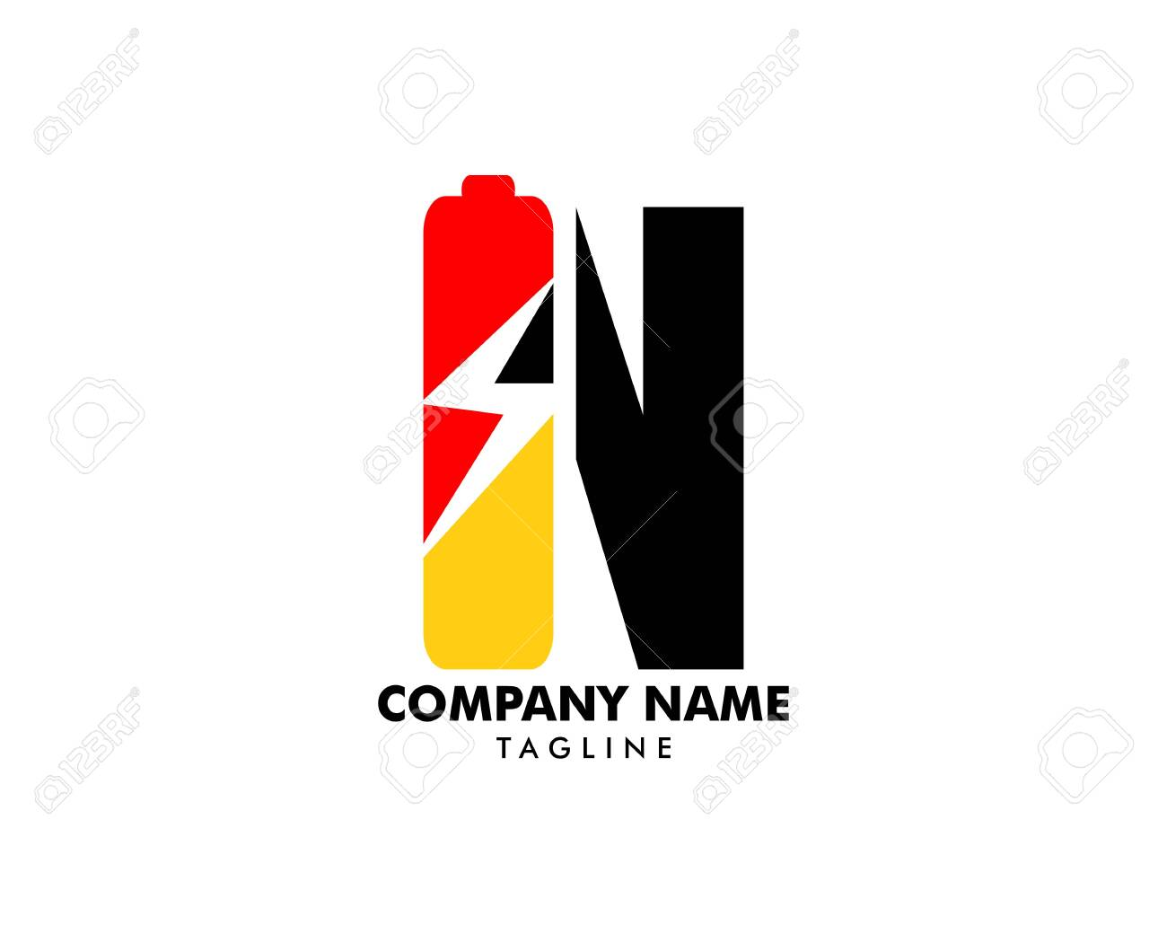 letter n battery vector logo template royalty free cliparts vectors and stock illustration image 127836370 letter n battery vector logo template