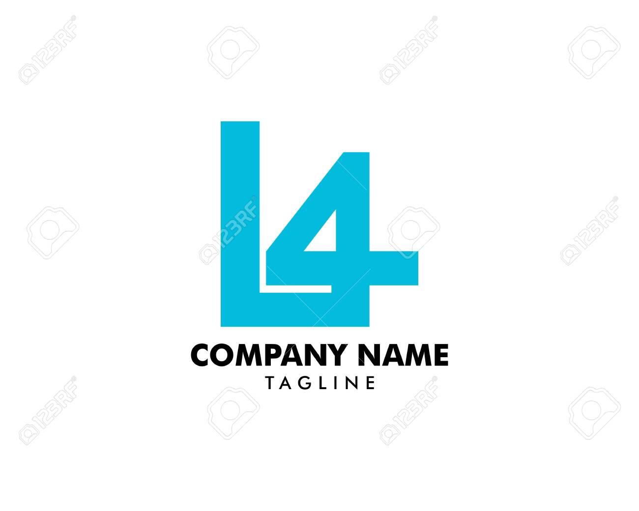 Initial Letter L4 Logo Template Design - 131803920