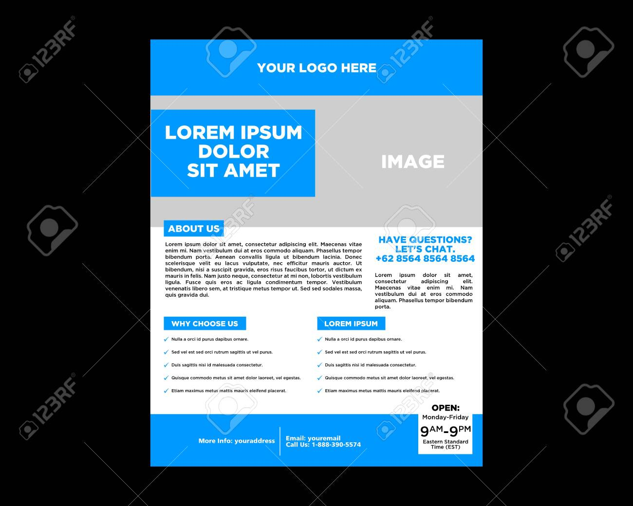 Vector Brochure Flyer Design Layout Template - 134534912