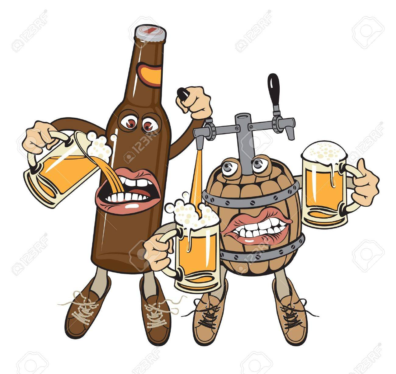 alcoholics friends Stock Vector - 11650901
