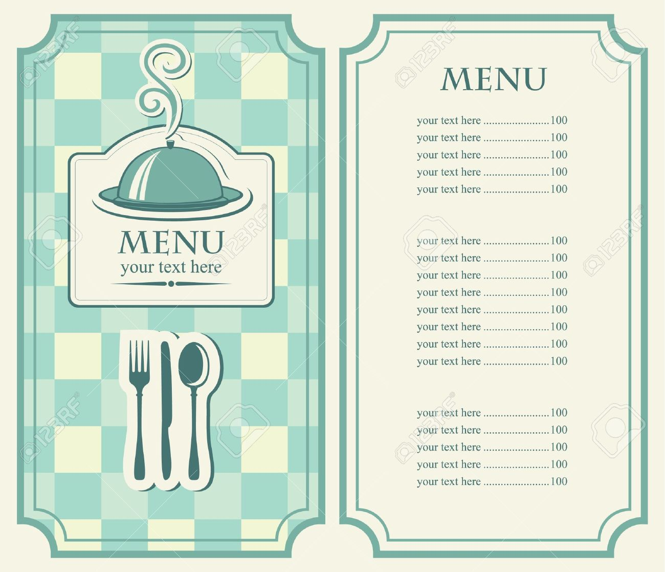 menu for cafe with covered tray and steam royalty free cliparts rh 123rf com menu clip art black and white menu clip art free