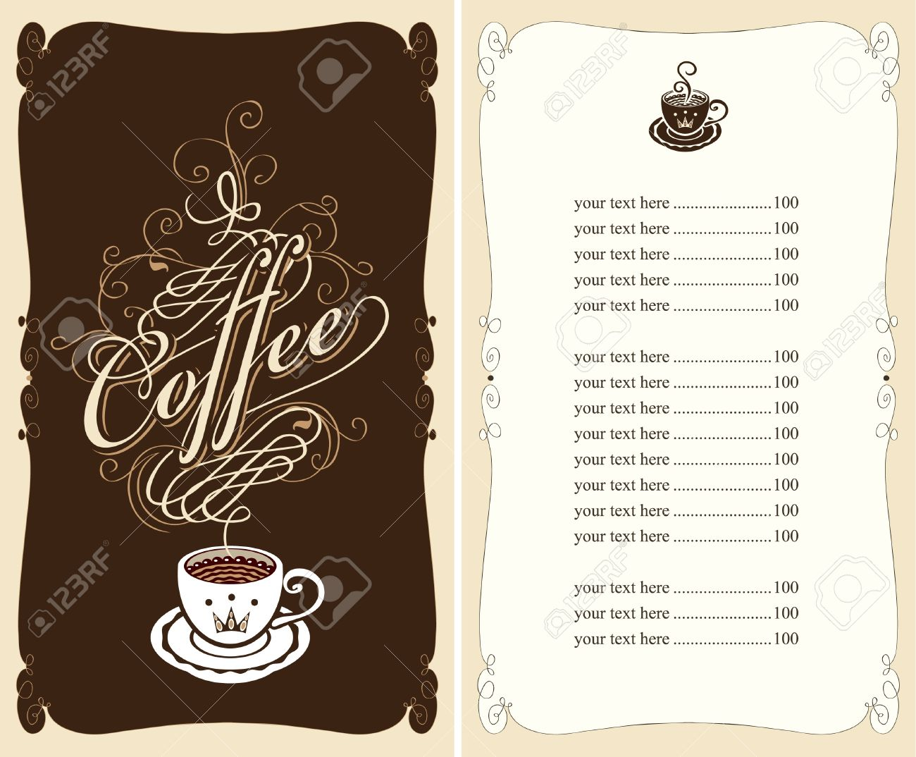 Cafe Menu Background