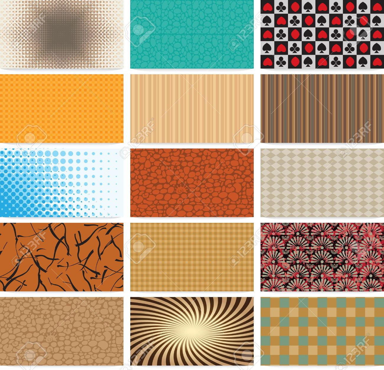 set of abstract backgrounds for business cards Stock Vector - 15660085