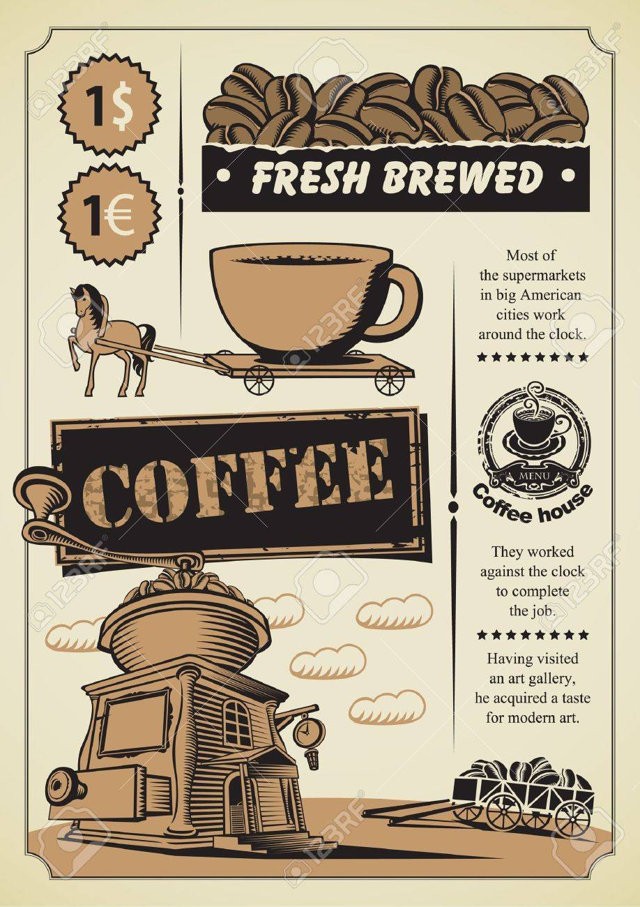 retro banner on the coffee theme Stock Vector - 15863922